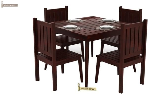 Dawson 4 Seater Dining Set (Mahogany Finish)-5
