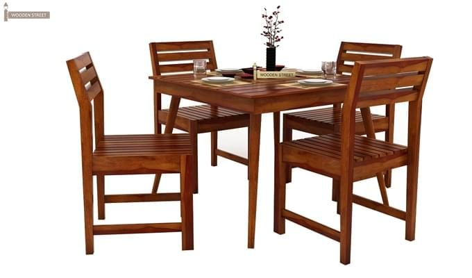 Edgar 4 Seater Dining Set (Honey Finish)-2