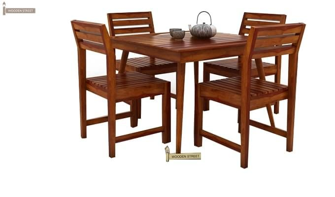 Edgar 4 Seater Dining Set (Honey Finish)-3