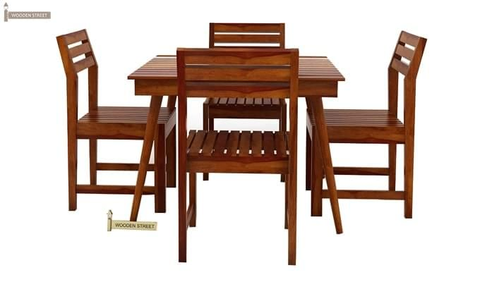 Edgar 4 Seater Dining Set (Honey Finish)-4