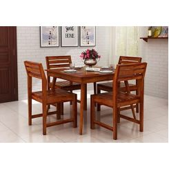 Edgar 4 Seater Dining Set (Honey Finish)