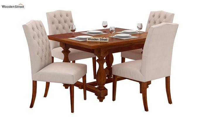 Elance 4 Seater Dinning Set (Honey Finish)-1