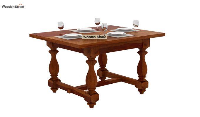 Elance 4 Seater Dinning Set (Honey Finish)-3