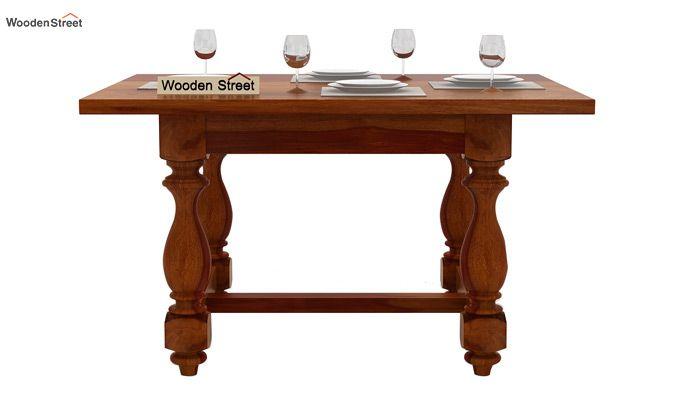Elance 4 Seater Dinning Set (Honey Finish)-4