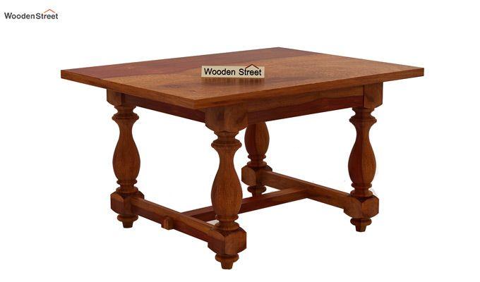 Elance 4 Seater Dinning Set (Honey Finish)-5