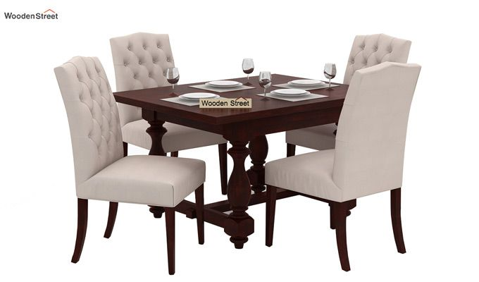 Elance 4 Seater Dinning Set (Mahogany Finish)-1