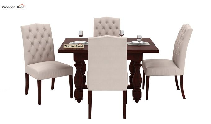 Elance 4 Seater Dinning Set (Mahogany Finish)-2
