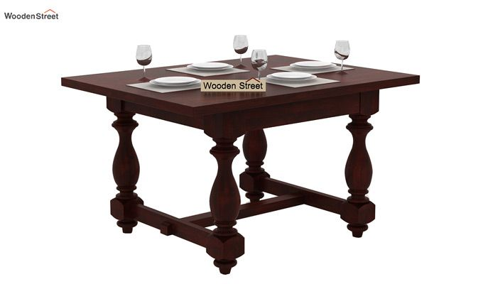 Elance 4 Seater Dinning Set (Mahogany Finish)-3