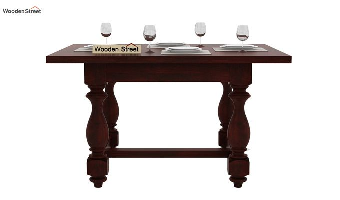 Elance 4 Seater Dinning Set (Mahogany Finish)-4