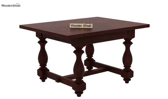 Elance 4 Seater Dinning Set (Mahogany Finish)-5
