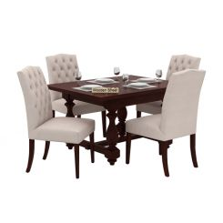 Elance 4 Seater Dinning Set (Mahogany Finish)