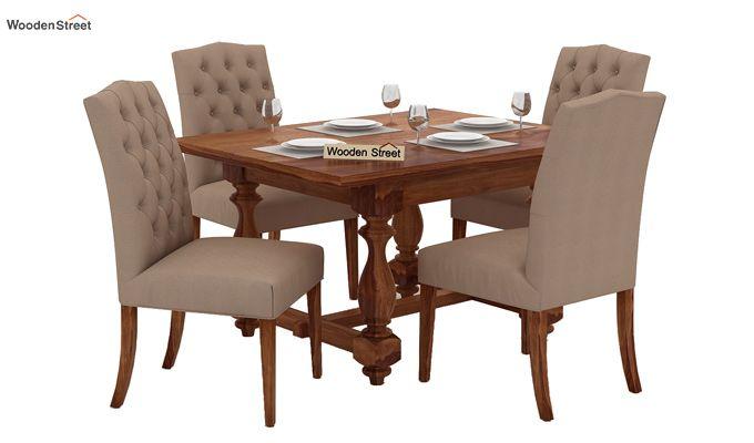 Elance 4 Seater Dinning Set (Teak Finish)-1