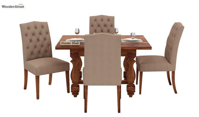 Elance 4 Seater Dinning Set (Teak Finish)-2