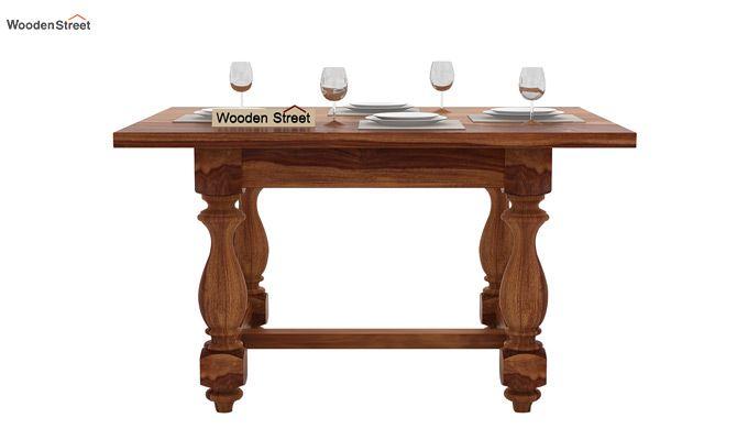 Elance 4 Seater Dinning Set (Teak Finish)-4