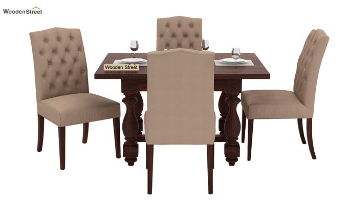 Elance 4 Seater Dinning Set (Walnut Finish)-3
