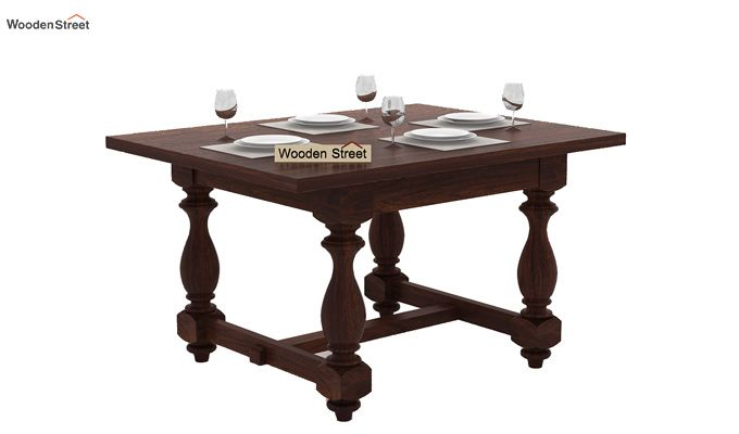 Elance 4 Seater Dinning Set (Walnut Finish)-4