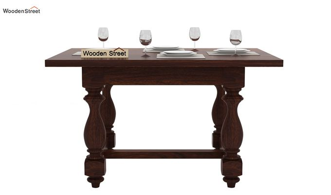 Elance 4 Seater Dinning Set (Walnut Finish)-5