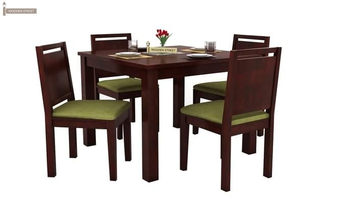 Orson 4 Seater Dining Set (Mahogany Finish)-2