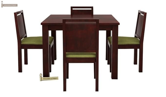 Orson 4 Seater Dining Set (Mahogany Finish)-3