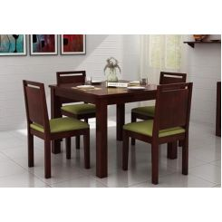 Orson 4 Seater Dining Set (Mahogany Finish)