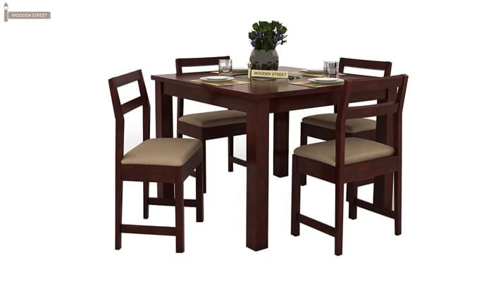 Fidel 4 Seater Dining Set (Mahogany Finish)-2