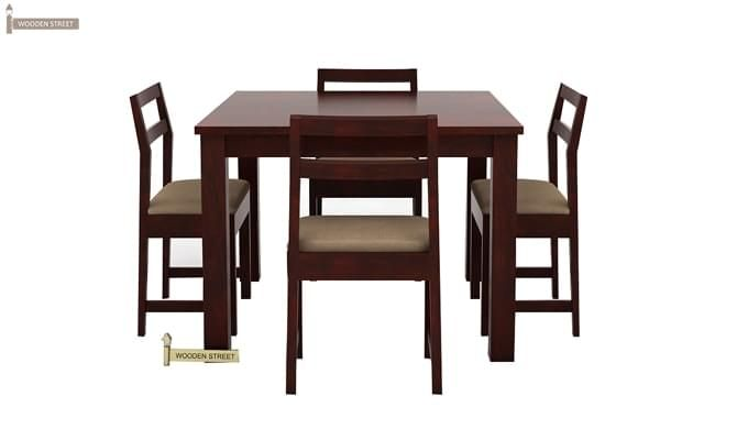 Fidel 4 Seater Dining Set (Mahogany Finish)-3
