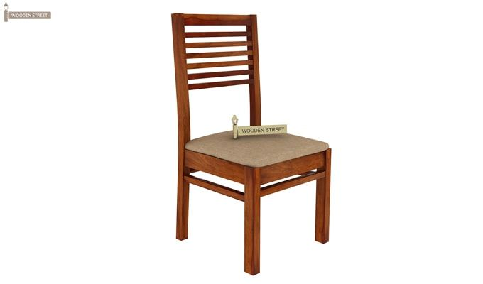 Florin 4 Seater Dining Table With Chairs (Honey Finish)-7