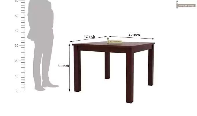 Darcel 4 Seater Dining Set (Mahogany Finish)-8
