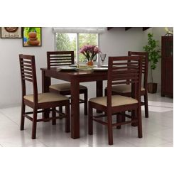 Darcel 4 Seater Dining Set (Mahogany Finish)