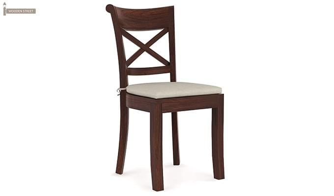 Garcia 4 Seater Dining Set X-legs (Walnut Finish)-5