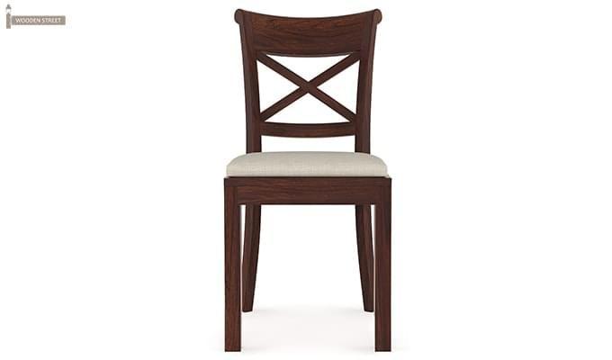 Garcia 4 Seater Dining Set X-legs (Walnut Finish)-6