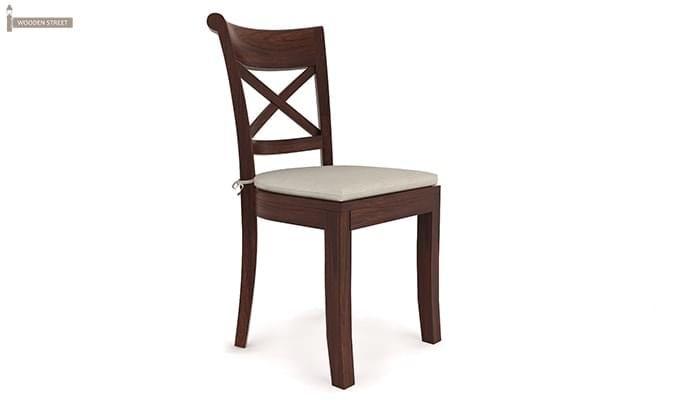 Garcia 4 Seater Dining Set X-legs (Walnut Finish)-7
