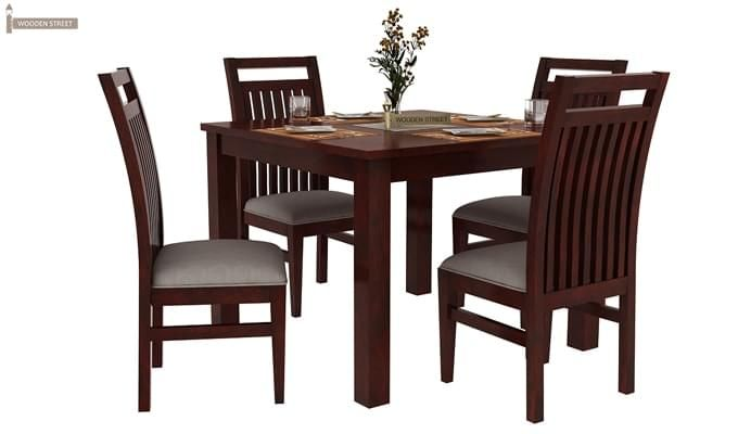 Hasbro 4 Seater Dining Set (Mahogany Finish)-2