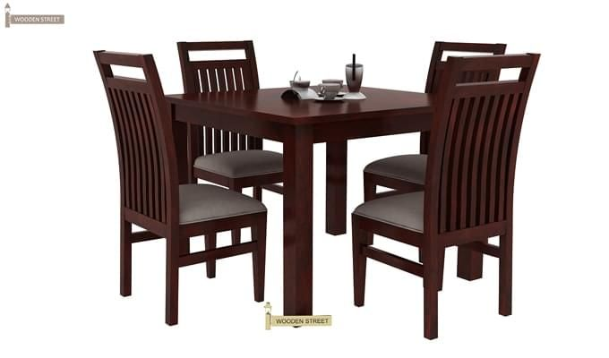 Hasbro 4 Seater Dining Set (Mahogany Finish)-3