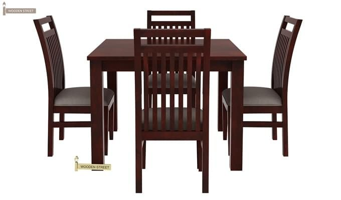 Hasbro 4 Seater Dining Set (Mahogany Finish)-4