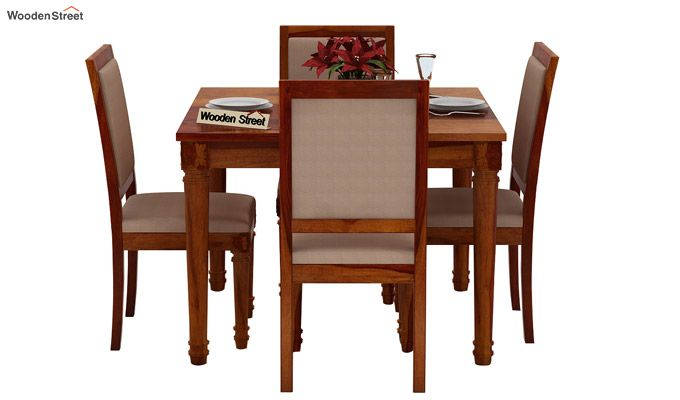 Henson 4 Seater Dining Set (Honey Finish)-2