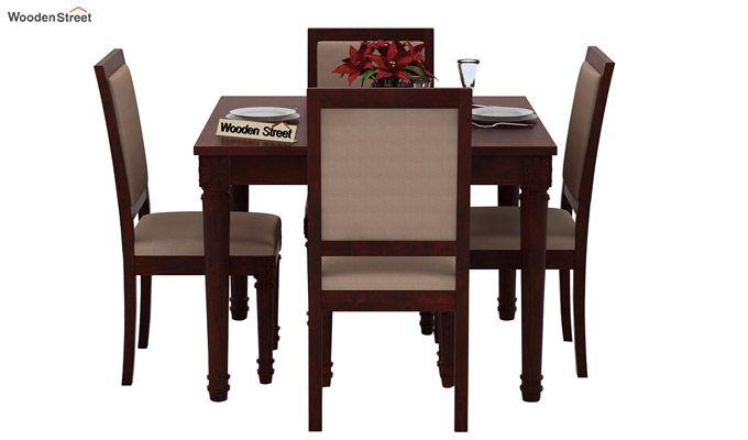 Henson 4 Seater Dining Set (Mahogany Finish)-2
