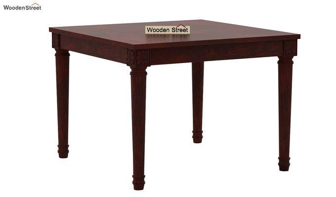 Henson 4 Seater Dining Set (Mahogany Finish)-3