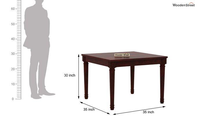 Henson 4 Seater Dining Set (Mahogany Finish)-7