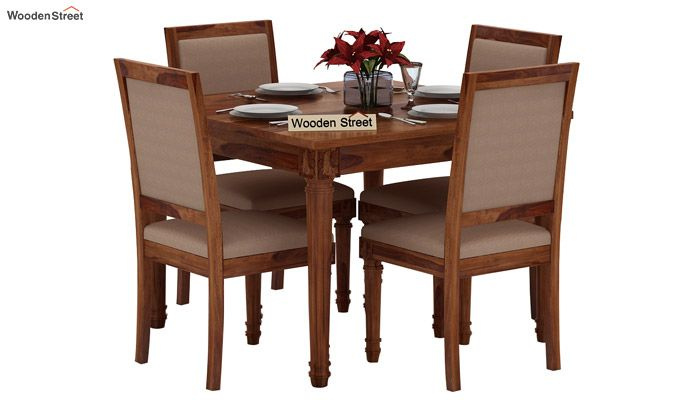 Henson 4 Seater Dining Set (Teak Finish)-1