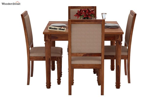 Henson 4 Seater Dining Set (Teak Finish)-2