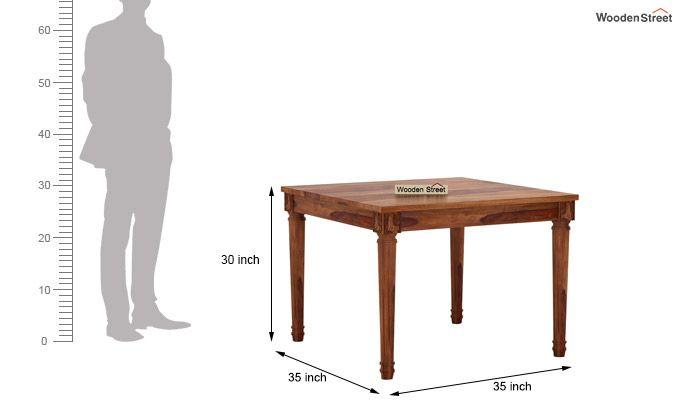 Henson 4 Seater Dining Set (Teak Finish)-7