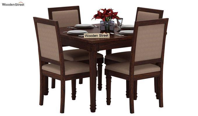 Henson 4 Seater Dining Set (Walnut Finish)-2