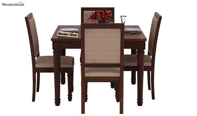 Henson 4 Seater Dining Set (Walnut Finish)-3