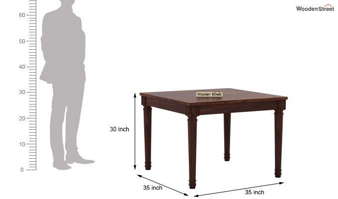 Henson 4 Seater Dining Set (Walnut Finish)-8