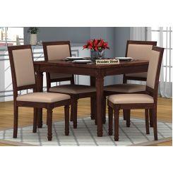 Henson 4 Seater Dining Set (Walnut Finish)