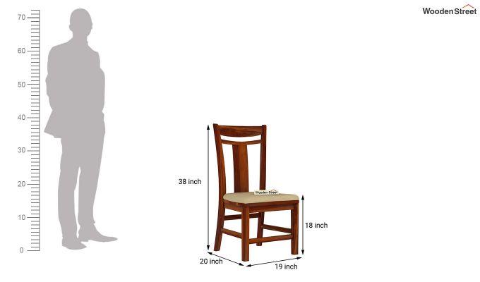 Isadora 4 Seater Round Dining Set (Honey Finish)-9