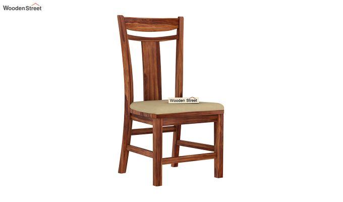 Isadora 4 Seater Round Dining Set (Teak Finish)-4