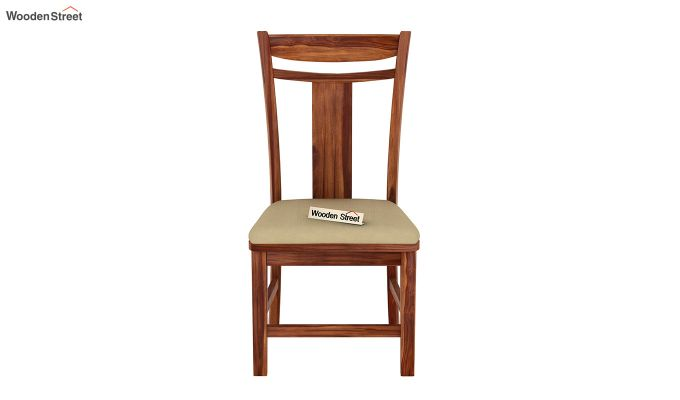 Isadora 4 Seater Round Dining Set (Teak Finish)-5