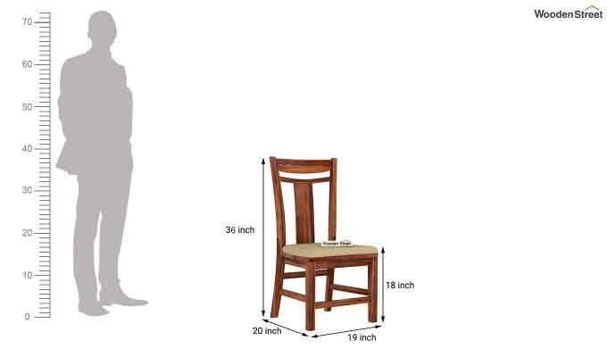 Isadora 4 Seater Round Dining Set (Teak Finish)-9
